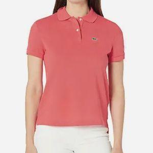 Lacoste Salmon Polo Shirt Womens 42 Medium
